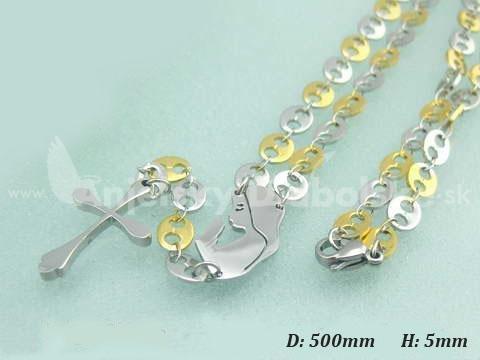 385b8448c Nemesacél nyaklánc - Rózsafüzér arany, ezüst szemek | Angyalidemoni.hu