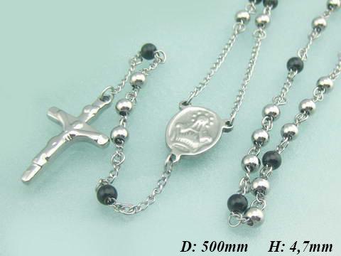 b535cc47c Rózsafüzér orvosi acélból, ezüst és fekete golyókkal | Angyalidemoni.hu
