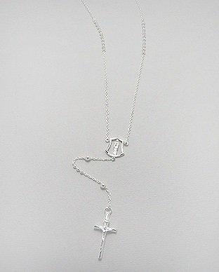 3fd27d9f1 Ezüst rózsafüzér – lánc gyöngyökkel | Angyalidemoni.hu